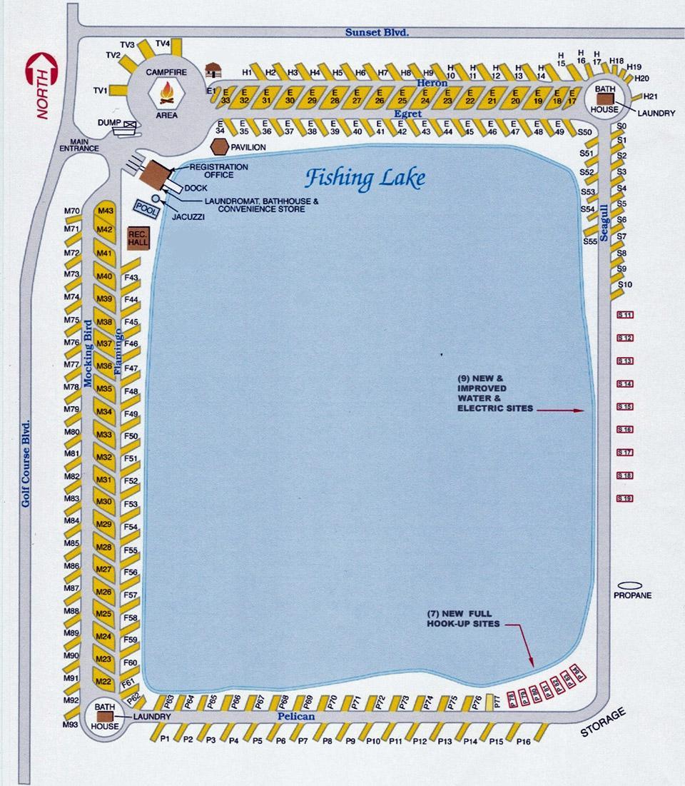 Resort Site Plan - Water's Edge RV ResortWater's Edge RV ...